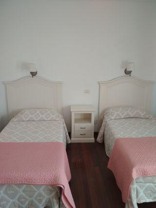 dormitorio lacado blanco.