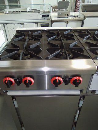 cocina 4 fuegos de sobremesa