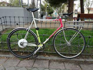 Bicicleta urbana Menneli con rueda eléctrica