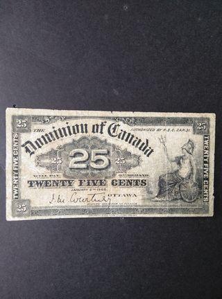 Canada 25 cents de 1900.