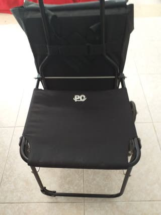 carro de compra especial con silla plegable nuevo