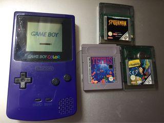 Game boy color+ 3 juegos