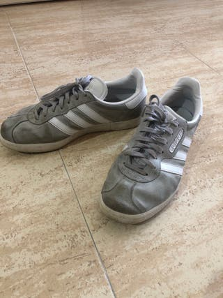 Zapatillas Adidas Gazelle (gris)
