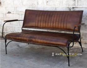 Sillón o Sofá de cuero autentico retro vintage