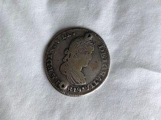 2 REALES 1819 FERNANDO VII -AG ZACATECAS