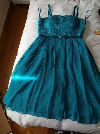 vestido para boda turquesa talla 40_42