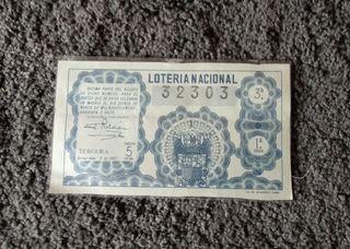 Décimo loteria nacional 1947
