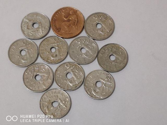 Monedas de 50 cts..