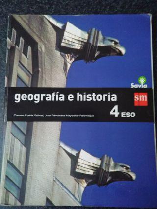 Libro de Gepgrafia e historia de 4°Eso.