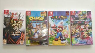 Juegos Nintendo switch (Nuevos y Seminuevos)
