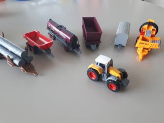 Tractor con remolques.