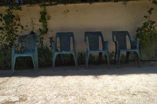 Silla de Jardín. Lote 4 sillas