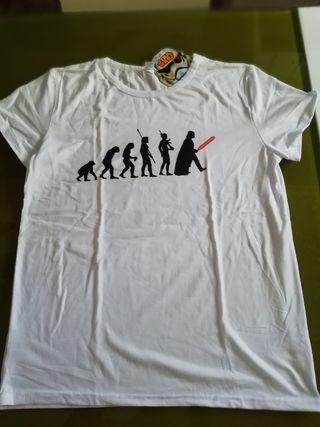 Camiseta blanca Star Wars nueva