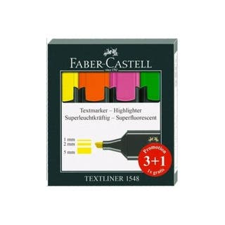 PACK 4 SUBRAYADORES FABER CASTELL