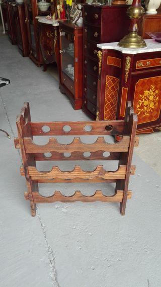 Botellero rustico de madera para 12 botellas