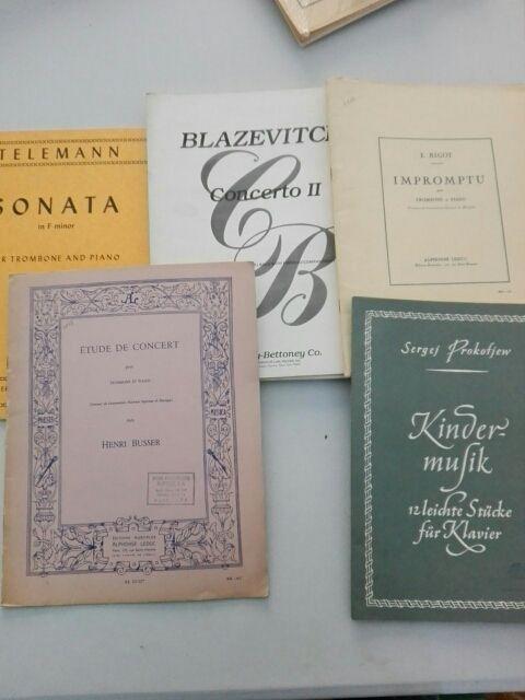 PARTITURAS TROMBÓN. Telemann,Bigot,Prokofiew,Busse