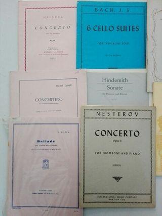 PARTITURAS TROMBÓN, Bach,Gotkovsky,Bozza,Haendel,