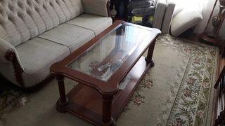 Mesa baja de centro de salón de madera Mod. Gui Mi