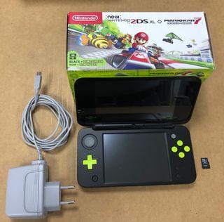 New Nintendo 2DS XL negra-verde perfecta
