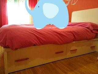 cama+colchón muelles 90cm