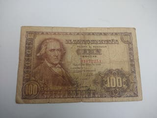 100 pesetas 1948