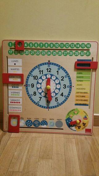 Reloj calendario niños