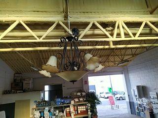lampara forja techo 5 brazos