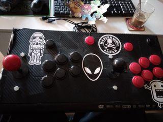 mando arcade 2 jugadores usb
