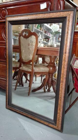 Espejo de madera color raiz 66x96 cm