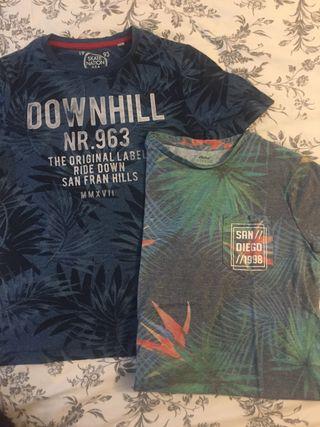2 camisetas talla 9-10