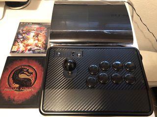 PS3 Super Slim 250Gb, arcade stick Madcatz, juegos