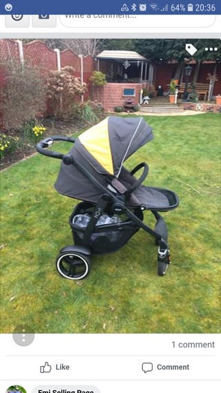 graco evo xt pram and pushchair