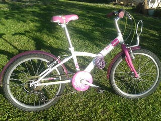 Bicicleta Infantil Rosa y Blanca