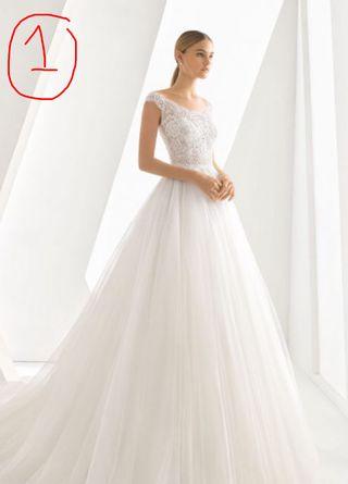 a34275294 Falda de novia con rosas de segunda mano en WALLAPOP