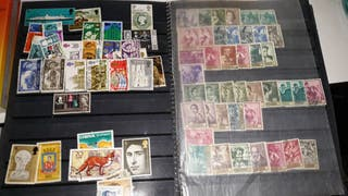 Álbum colección sellos antiguos