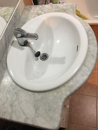Encimera mármol y lavabo