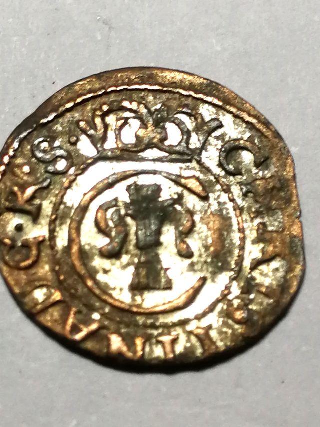 Moneda Medieval de Suecia, N° 034.