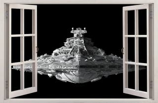 Vinilo decorativo destructor imperial STAR WARS