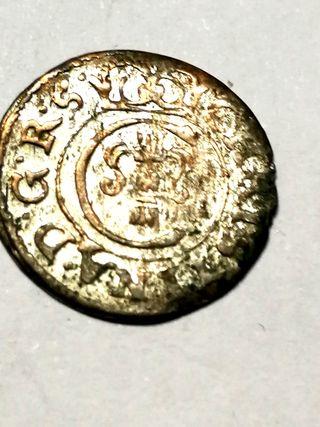 Moneda Medieval de Suecia, N° 032.