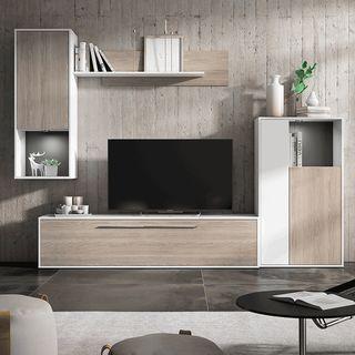 Composición mueble tv para salón comedor moderno
