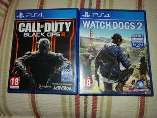 CoD Black ops 3 y watch dog 2
