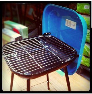 Barbacoa carbón portátil maleta (azul y negro)