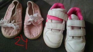 Zapatillas niña número 24 Adidas y lona