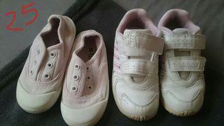 Zapatillas niña número 25 Adidas y lona