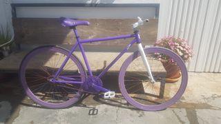 Bicicleta paseo Fixie contrapedal