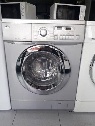 Lavadora con secadora marca LG