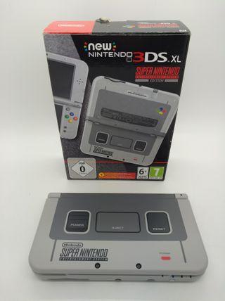 NINTENDO NEW 3DS XL EDICION SNES - CAJA - CARGADOR