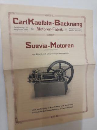Kaelble Tractor Apisonador Catálogo Datos Original