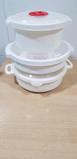 Lote de ollas para microondas