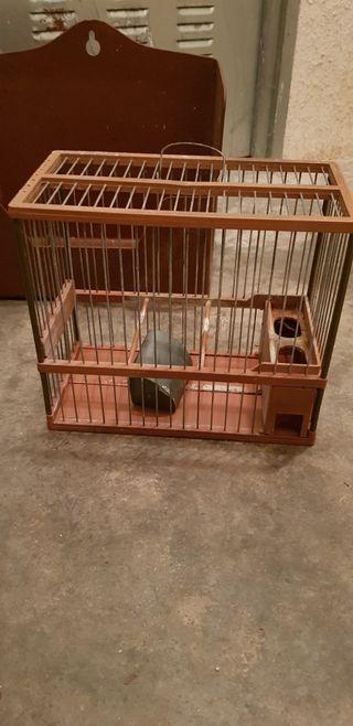 jaula de pájaro de canto